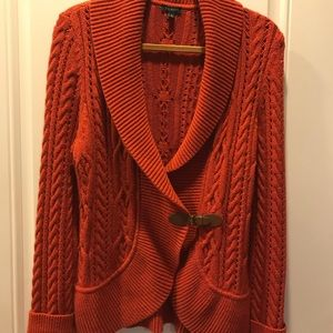 Talbots Fall Cardigan with Buckle (M)